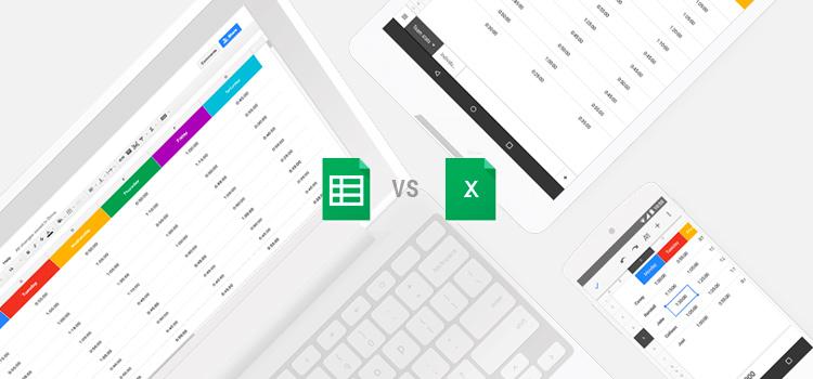 Google Sheets vs. Excel